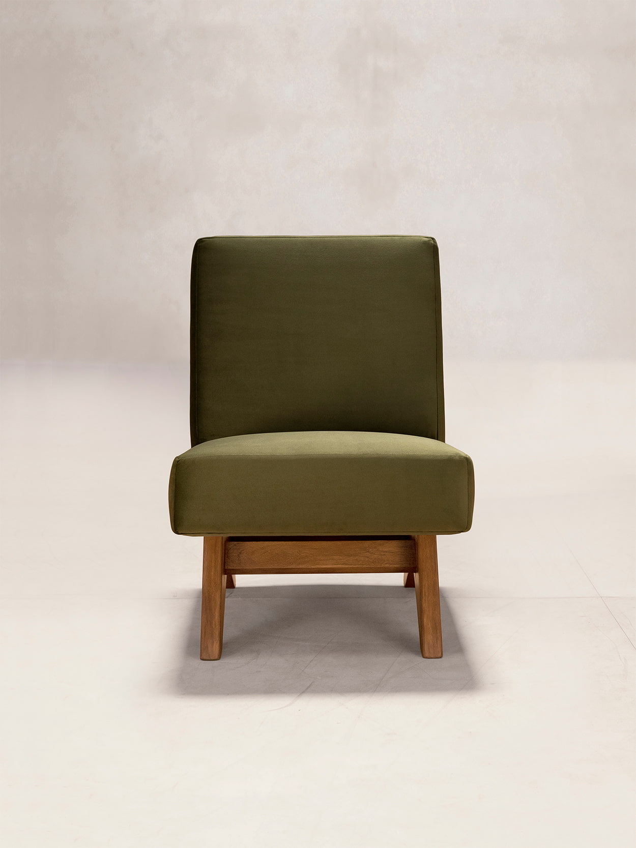 Upholstered Armless Chair 1