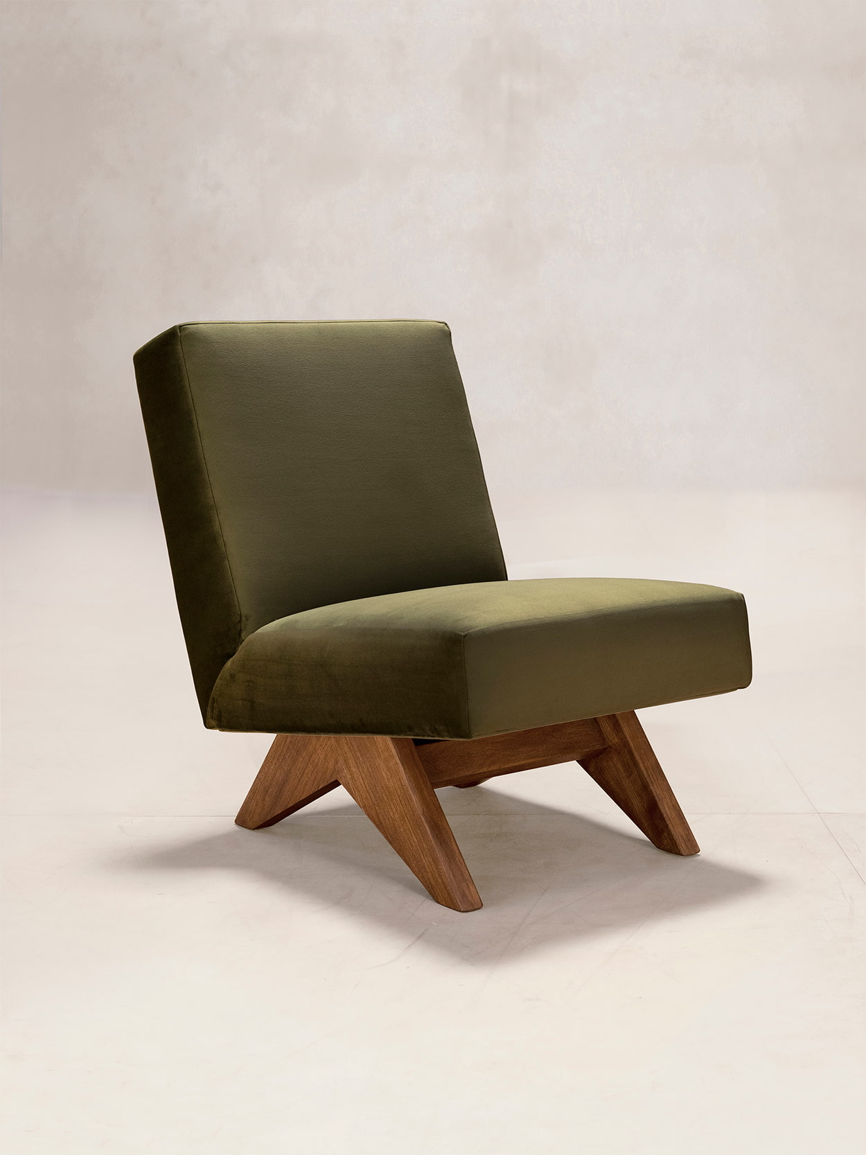 Upholstered Armless Chair 3
